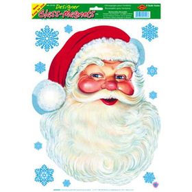 SANTA FACE GLASS MAGNET