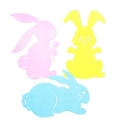 FOIL BUNNY SILHOUETTES PRTD 2 SIDES 15IN