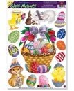 EASTER BASKET GLASS MAGNET