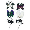 MARDI GRAS FEATHER MASK ULTIMA