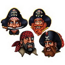 PIRATE CREW DECORATION (4/PKG)