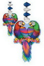 TROPICAL BIRD DANGLING DECORATION (30IN.