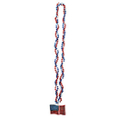 BRAIDED BEADS W/AMERICAN FLAG MEDALLION