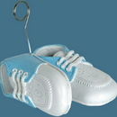 BABY SHOES PHOTO/BALLOON HOLDER LT. BLUE