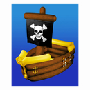 PIRATE SHIP INFLATABLE COOLER (1/PK)