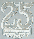 25TH ANNIVERSARY CREST CUTOUT (14IN)