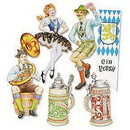 OKTOBERFEST CUTOUT DECORATIONS (20IN.-6C
