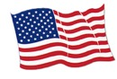 AMERICAN FLAG CUTOUT DECORATION (18IN.)
