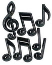 MUSICAL NOTES PLASTIC (13IN.)