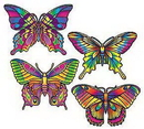 BUTTERFLY CUTOUT DECORATIONS (16IN.)