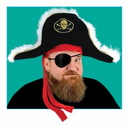 PIRATE CAPTAIN'S HAT - ADULT