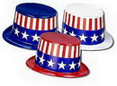 PATRIOTIC TOP HAT (PLASTIC)
