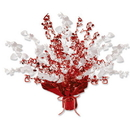 HEART GLEAM 'N BURST CENTERPIECE RED/WHT