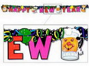 HAPPY NEW YEAR JOINTED BANNER (6IN.X6')