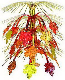 FALL LEAVES CASADE CENTERPIECE (18IN.)