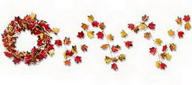 FALL LEAF METALLIC GARLAND (25')
