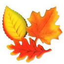 LEAF DECORATIONS (12IN.-9 CT.)