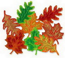 FALL LEAF FOIL DECORATION (16IN.)