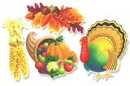 THANKSGIVING CUTOUTS (14IN.-4CT.)