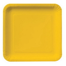 "GOLDEN YELLOW 9"" SQUARE PAPER PLATE"