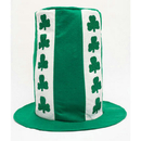 White And Green Shamrock Hat