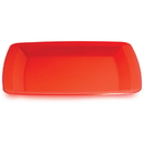 RED 10.25 IN. PLASTIC SQUARE PLATE