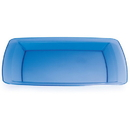 BLUE 10.25 IN. PLASTIC SQUARE PLATE