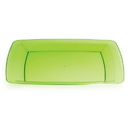GREEN 10.25 IN. PLASTIC SQUARE PLATE
