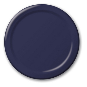 "NAVY BLUE 9"" PAPER PLATE (24 CT.)"