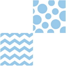 CHEVRON/DOTS-LT BLUE LUNCH NAPKIN