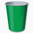 GREEN 9 OZ. PAPER HOT/COLD CUP (24 CT.)