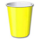 LT YELLOW 9OZ HOT/COLD PAPER CUP (24 CT)