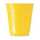 12OZ GOLDEN YELLOW PLASTIC CUP (20 CT.)