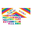 RAINBOW PARTY GIANT PARTY BANNER