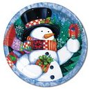 Partypro 27345 Discontinued Majestic Snowman Dessert Plate