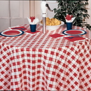RED GINGHAM 84IN. PLASTIC TABLECOVER