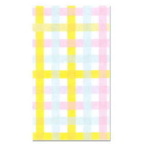 COLORFUL GINGHAM GUEST TOWEL