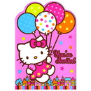 HELLO KITTY BALLOONS INVITATION
