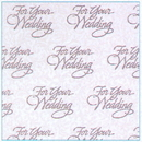 WEDDING WISHES GIFT WRAP ROLL