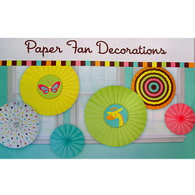 FISHER PRICE BABY PAPER FAN DEOCRATION
