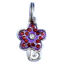 PURPLE FLOWER CHARM