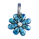 LT BLUE FLOWER CHARM