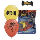 BATMAN PRINTED LATEX BALLOONS (6/PKG)