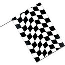 BLACK CHECK FLAG 6IN.X9IN.