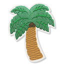 PALM TREE GLITTERED CUTOUT (12.5IN.)