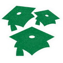 GREEN MORTARBOARDS GLITTER MINI DECOR