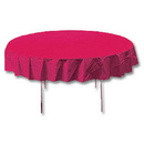 HOT PINK 82 IN. ROUND PAPER TABLECOVER