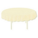 IVORY 82 IN. OCTY ROUND PAPER TABLECOVER