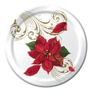 POINSETTIA BREEZE DESSERT PLATE (8/PKG)