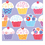 SWEET CUPCAKE PLASTIC TABLECOVER